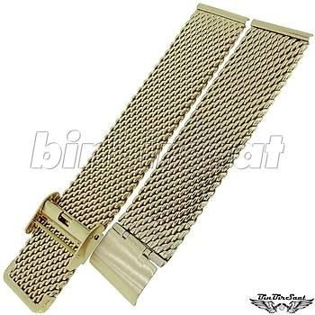 HSR-06 Kalýn Hasýr Çelik Saat Kordonu - Bakýr Rengi (Rose Gold) - 18-20-22-24 mm