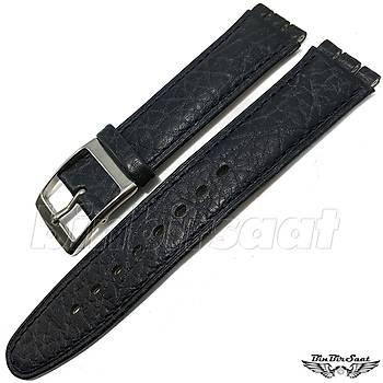 Swatch Uyumlu 17mm Hakiki Deri Saat Kayýþý SWC17M-DR05-PR