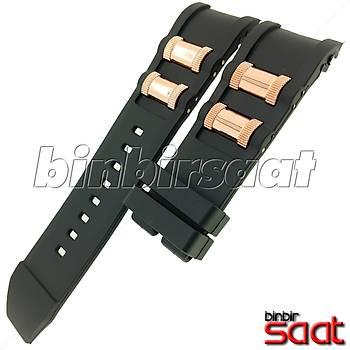 INV-625 Invicta Benzeri Saatler Modelleri ile Uyumlu 26 mm Siyah Silikon Saat Kordonu