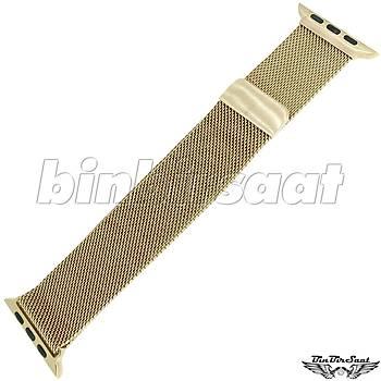 Apple Watch ve Emsali Saatlere Uyumlu Hasýr Çelik Saat Kordonu 34mm  APL34M-01