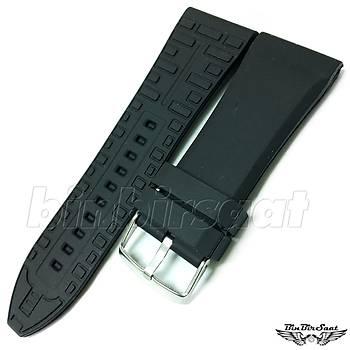 28X24mm Siyah Silikon Saat Kordonu