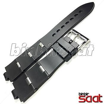 BLG-25-1 Bvlgari Diagono Scuba Diver Uyumlu Silikon Saat Kordonu - 25mm - Çelik Renk