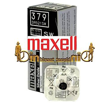 MAXELL SR521SW 379 10 LU Saat Pili