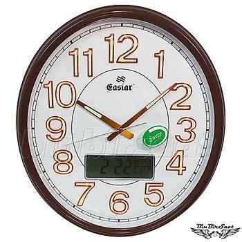 Eastar Analog-Dijital Duvar Saati, Termometre, Takvim, Saat 5101A