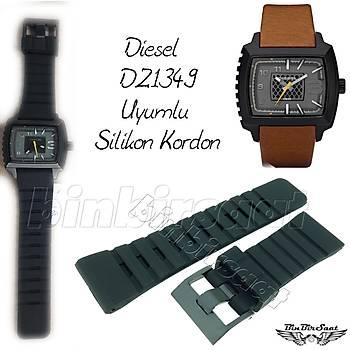 DS2824-1 Diesel Uyumlu Silikon Saat Kordonu - 24-26-28mm - DZ1349