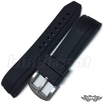 KV2222M-1 Siyah Silikon Saat Kordonu 22 mm