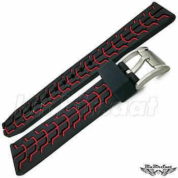 TRK2220M-1E Rubber Silikon Saat Kordonu A Kalite 20-22-24mm