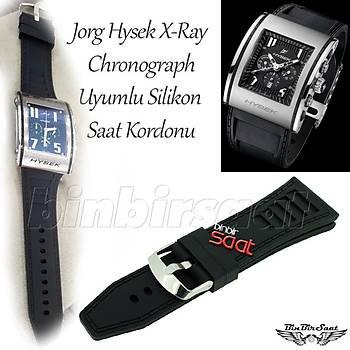 Jorg Hysek X-Ray Chronograph Uyumlu Silikon Saat Kordonu
