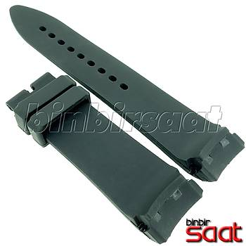 CPR24M Chopard Modeli Saatlere UYUMLU Silikon Saat Kordonu 24mm