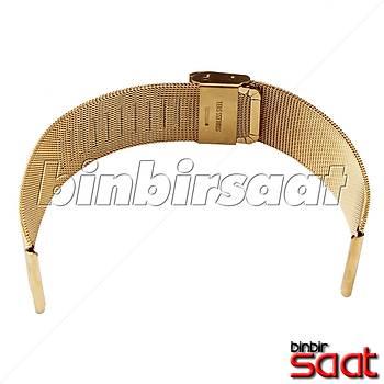 HS-02 Ýnce Hasýr Çelik Saat Kordonu - Altýn Rengi - 20-22-24 mm