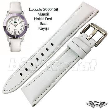 20mm Beyaz Hakiki Deri Saat Kayýþý Lacoste 2000459 Uyumlu 20x16mm  4 Renk Seçenekli