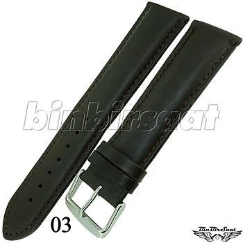BANDCO BUFFALO Hakiki Deri Uzun 22mm A Kalite Saat Kordonu BND2220M-1C 5 Renk Seçenek