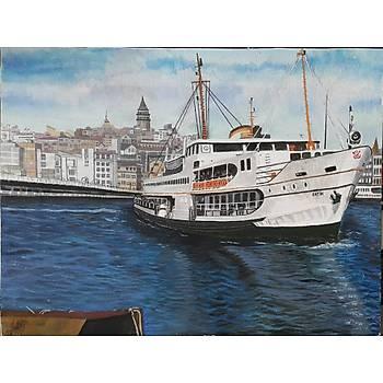 Akrilik Orijinal Canvas Tablo 30x40cm Fatih Sipahioðlu - Eminönü - SATILMIÞTIR