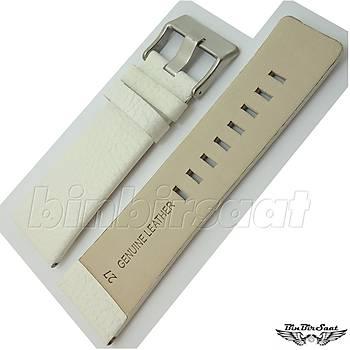 DSL2724M-7A Hakiki Deri Saat Kordonu 27mm Beyaz
