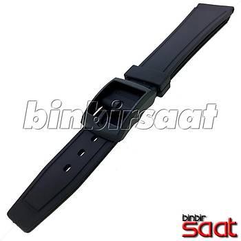 Q&Q Plastik Kol Saati ve Emsallerine Uyumlu Silikon Saat Kordonu 16mm