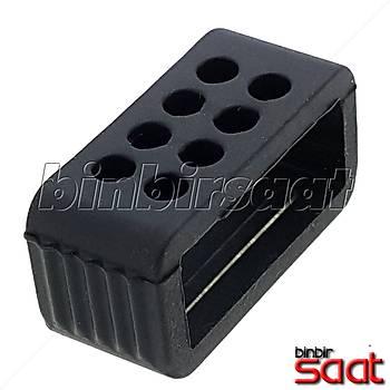 Saat Kordon Köprüleri 18-20-22-24 mm Silikon Siyah