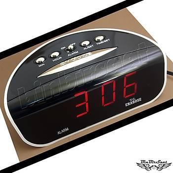 ENAROSE Digital Led  Masa Saati, Alarm Takvim Snooze E21709