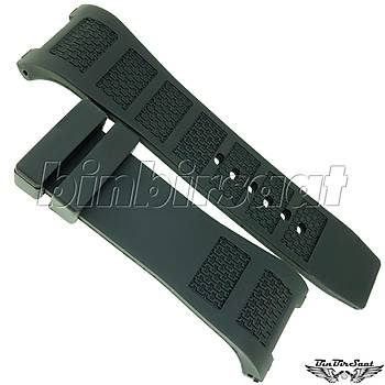 IW3022TRK IWC UYUMLU SÝLÝKON SAAT KORDONU 30mm Siyah