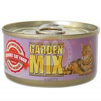 Garden Mix Somon Füme ve Kýrmýzý Ton Balýklý Kedi Konservesi 85 Gr