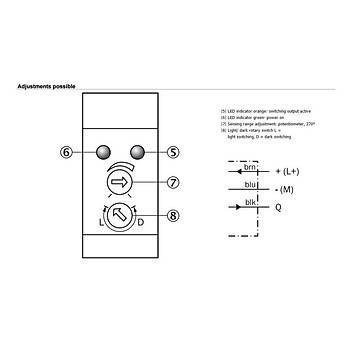 WL100-P3409 (6 036 511) 6m Algýlamalý Reflektörlü PNP M12 Konektörlü Fotosel SICK