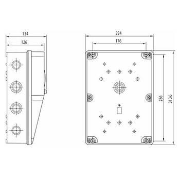 220x300mm IP54 Boþ (Prizsiz) Kombinasyon 3477-758-0600 SCHNEIDER