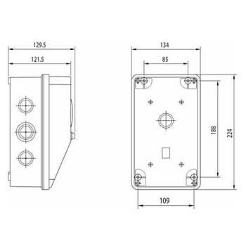 130x220mm IP54 Boþ (Prizsiz) Kombinasyon 3477-757-0600 SCHNEIDER