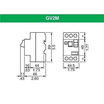 GV2ME22 20-25A Ayarlanabilir Motor Koruma Þalteri SCHNEIDER