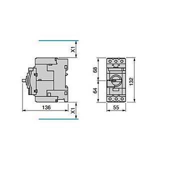 GV3P50 37-50A Ayarlanabilir Motor Koruma Þalteri SCHNEIDER