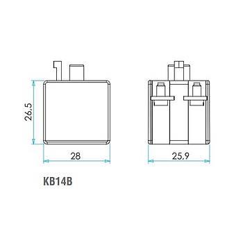 KB14B 1NA+1NK Butonluk Blok Kontak EMAS
