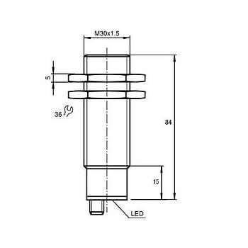 XSAV12373 M30 120...3000 Devir/Dk Ayarlanabilir PNP/NC 12-48V DC Rotasyon Ýzleme (Hýz Bekçisi) Ýndüktif Sensör SCHNEIDER