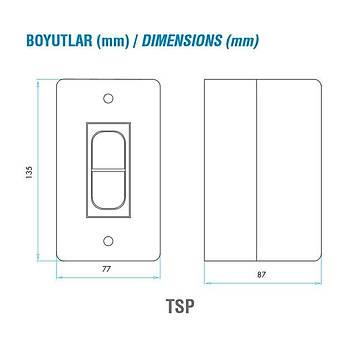 TSP-3.50 2.4-3.5A Ayarlanabilir Kutulu Termik Manyetik Motor Koruma Þalteri EMAS