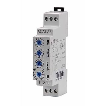MCB-8 0.1sn-999dk Ayarlanabilir Fonksiyonel Ray Tipi Zaman Rölesi ENTES