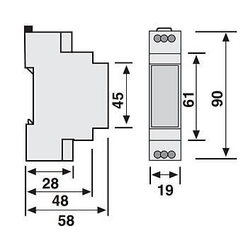 SSR-2X 0.1sn-60saat Ayarlanabilir Ray Tipi Sað-Sol Zaman Rölesi ENTES