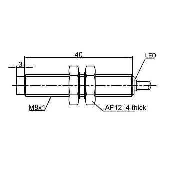 LR08TBN04DPOY M8 4mm PNP NO 10-30VDC Kablolu Ýndüktif Sensör LANBAO