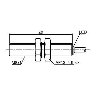 LR08TBF15DPC M8 1.5mm PNP NC 10-30VDC Kablolu Ýndüktif Sensör LANBAO