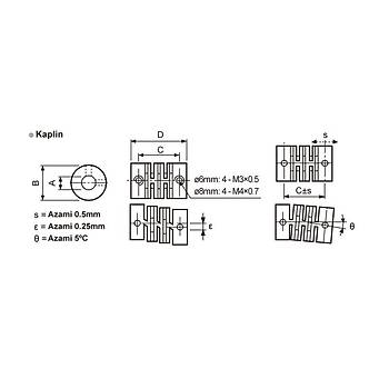 E50S8-360-3-T-1 360 Pulse 50mm Gövde 8mm Milli Totem Pole Artýmlý Enkoder AUTONICS