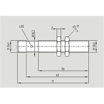 IFL 2-12L-10STP M12 2mm PNP NO 10-30VDC M12 Konnektörlü Ýndüktif Sensör SCHMERSAL
