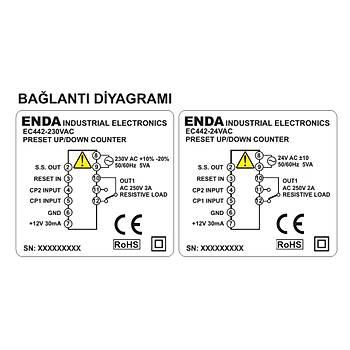EC442 230VAC 48x48mm Ýleri/Geri Dijital Sayýcý (PNP/NPN/ENCODER) ENDA