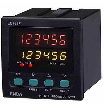 EC762F 24VAC 72x72mm Çift Kontaklý Ýleri/Geri Dijital Sayýcý (PNP/NPN/ENCODER) ENDA