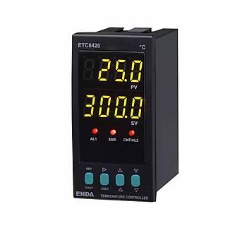 ETC8420 230VAC 48x96mm Fonksiyonel Dijital PID/On-Off Isý Kontrol Cihazý (Termostat) ENDA