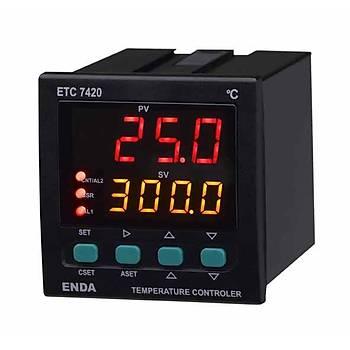 ETC7420 230VAC 72x72mm Fonksiyonel Dijital PID/On-Off Isý Kontrol Cihazý (Termostat) ENDA