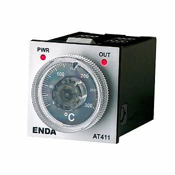 AT411-FE 230VAC 48x48mm J Tipi (Fe-Const) 8 Pnli Analog Ayarlý Isý Kontrol Cihazý ENDA