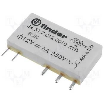 34.51 12VDC 6A 1CO (SPDT) Kontaklý PLC Slim Röle FINDER