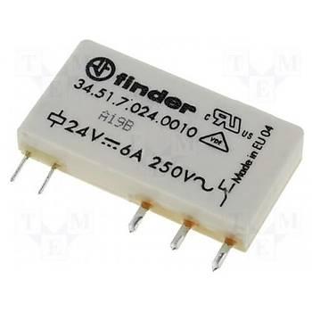 34.51 24VDC 6A 1CO (SPDT) Kontaklý PLC Slim Röle FINDER