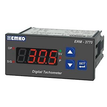ERM-3770 24V AC/DC 77x35mm PNP/NPN Giriþli (Rölesiz) Dijital Takometre (Devir Ölçer) EMKO
