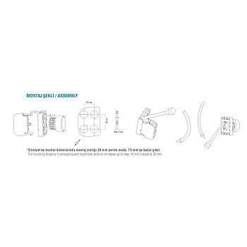 B100DB 22mm 1NA Kontaklý Yaylý Start Butonu (Beyaz) EMAS