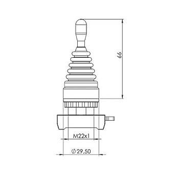 CM101DJ21 22mm 2 Yön Hareketli Yaylý Joystick EMAS