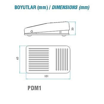 PDM1 1CO Kontaklý Plastik Mini Pedal EMAS