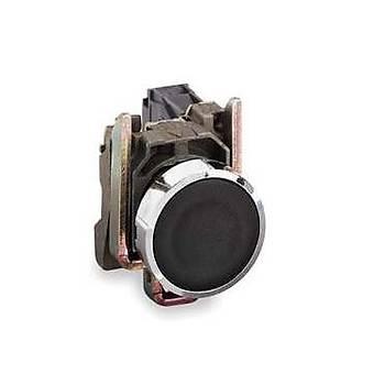 XB4BA21 22mm 1NA Kontaklý Yaylý Start Butonu (Siyah) SCHNEIDER