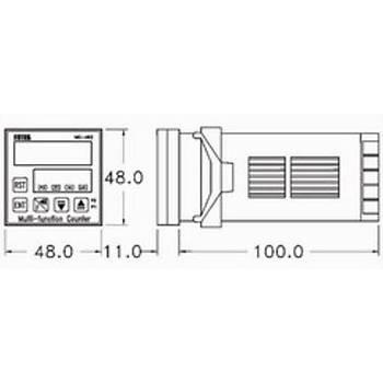 MC-461 48x48mm Dijital Sayýcý (Counter) FOTEK
